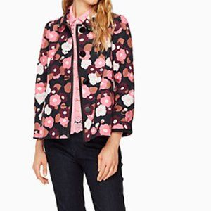 Kate Spade Blooming Cotton Button Up Jacket